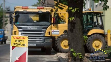 Prace drogowe w centrum Zgierza