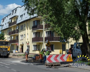 Zdjęcie remontowanego chodnika na ul. Dubois