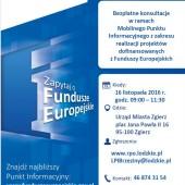 Plakat informujący o bezpłatnych konsultacjach