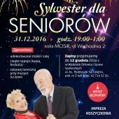 Plakat promujący Sylwester dla Seniorów
