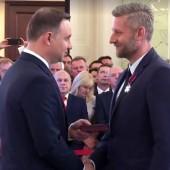 Prezydent RP Andrzej Duda odznacza Prezydenta Miasta Zgierza Przemysława Staniszewskiego