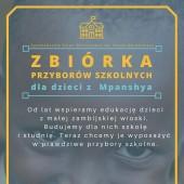 Plakat promujący zbiórkę