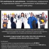 """Plakat projektu """"Od zwolnienia do zatrudnienia"""""""