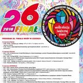 Plakat z programem 26. Finału WOŚP w Zgierzu