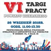 Plakat VI edycji Targów Pracy Powiatu Zgierskiego
