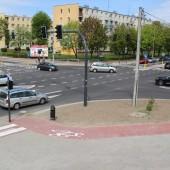 Skrzyżowanie ulic Parzęczewskiej i Gałczyńskiego - fot. Starostwo Powiatowe w Zgierzu