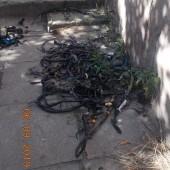 Spalone kable - fot. Straż Miejska w Zgierzu