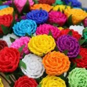 Kolorowe kwiaty - rękodzieło