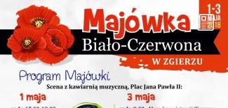 Plakat z programem Majówki