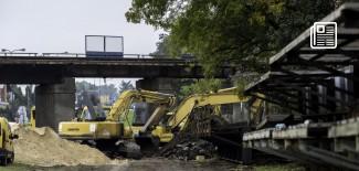 Roboty na przejeździe kolejowym na ul. Łódzkiej w Zgierzu