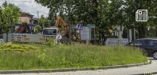 Roboty w okolicy Ronda Sybiraków