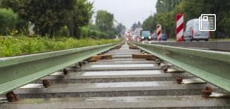 tory tramwajowe w ul. 1 Maja (24.08.2021 r.)