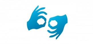Tabliczka informacyjna o stanowisku obsługi osób głuchych