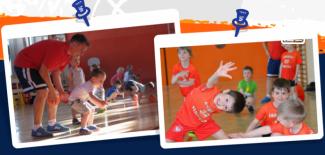 Plakat promujący Koszykówkę dla najmłodszych