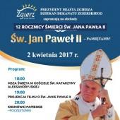 12. rocznica śmierci św. Jana Pawła II