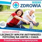 Plakat promujący Akademię Zdrowia