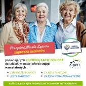 Plakat promujący nowe zajęcia dla seniorów