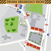 Mapka zmiany organizacji ruchu w dniu 11.11.2018 r.