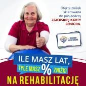 Plakat promujący zniżki dla seniorów