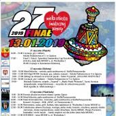 Plakat z programem 27. Finału WOŚP w Zgierzu