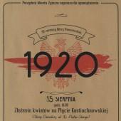 Plakat promujący obchody 99. rocznicy Bitwy Warszawskiej