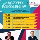 """Plakat promujący Piknik Seniora """"Łączymy Pokolenia"""""""