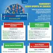 Plakat promujący zajęcia sportowe