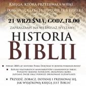 """Wystawa """"Historia Biblii"""""""