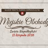 Grafika promująca wydarzenie pt. Miejskie obchody Święta Niepodległości