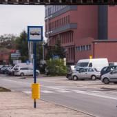 Przystanek autobusowy na terenie Parku Przemysłowego Boruta Zgierz