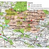 Mapa poboru próbek - WIOŚ i COAS