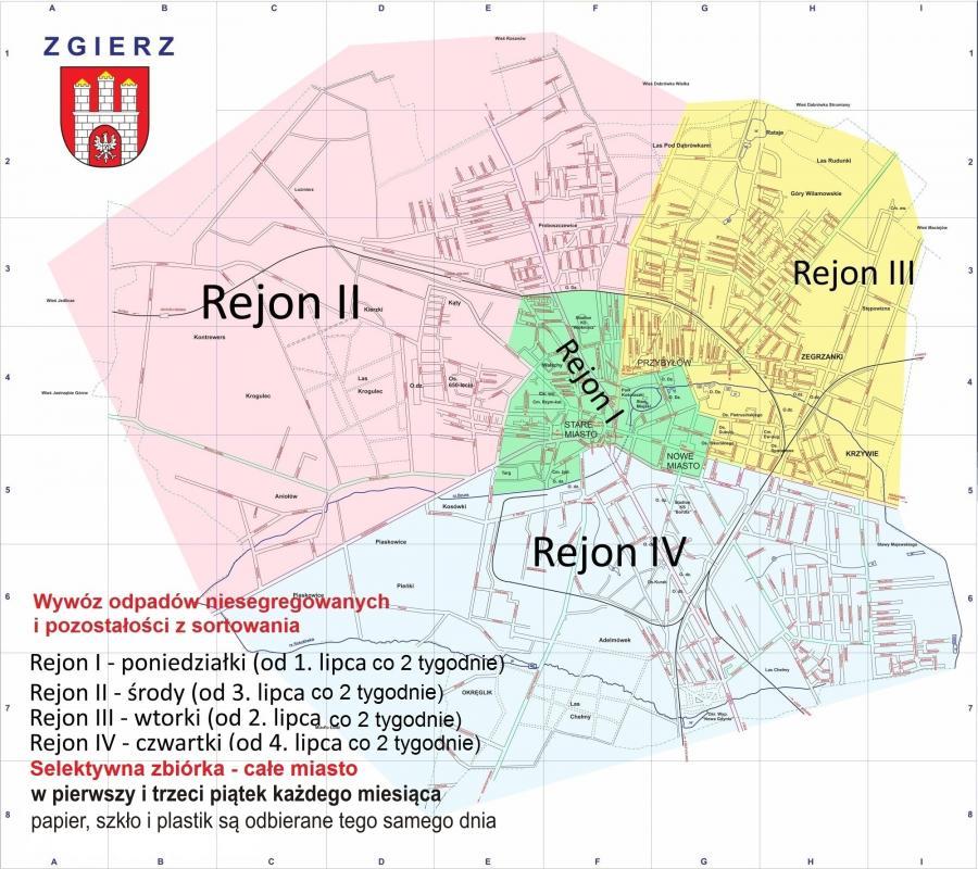 Zgierz Mapa Miasto Zgierz