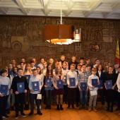 Nagrodzeni stypendiami uczniowie 4 marca 2020 roku