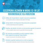 Rekomendacje dla rodziców uczniów w wieku 12-18 lat