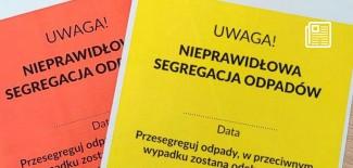 Żółte i czerwone kartki za nieprawidłową segregację odpadów